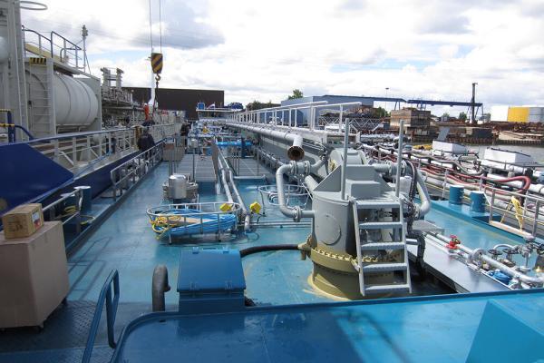 Ladingverwarming voor binnenvaarttankers